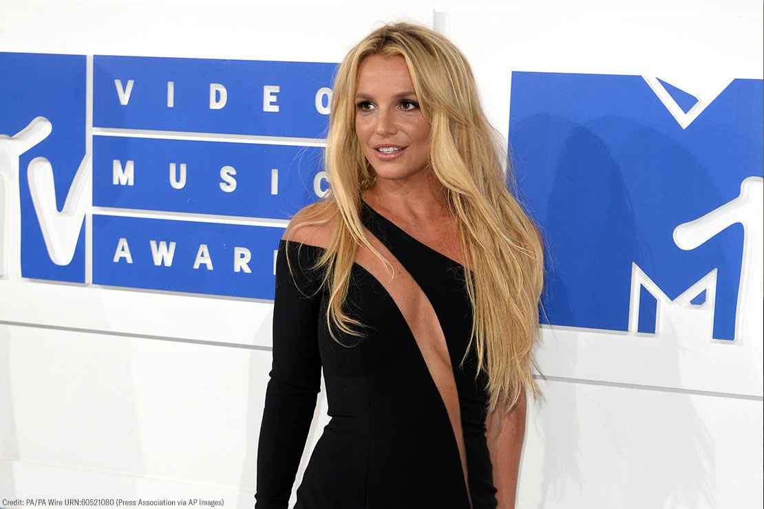 Britney Spears is shown arriving to the MTV Video Music Awards on June 28, 2016
